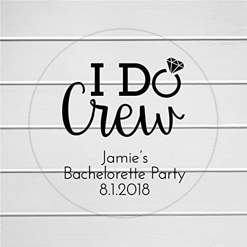 I do crew bachelorette party stickers clear bachelorette party labels personalized transparent labels