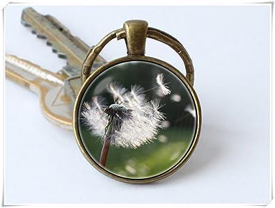Diente de león Wish clave cadena llavero flor colgante ...