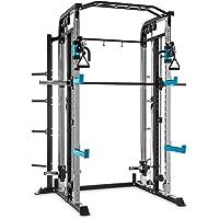 Capital Sports Amazor H - Rack de musculation pour entraînement sûr (barre de suspension de 87cm, barre de traction avec deux modes de prise, 2 supports en J)