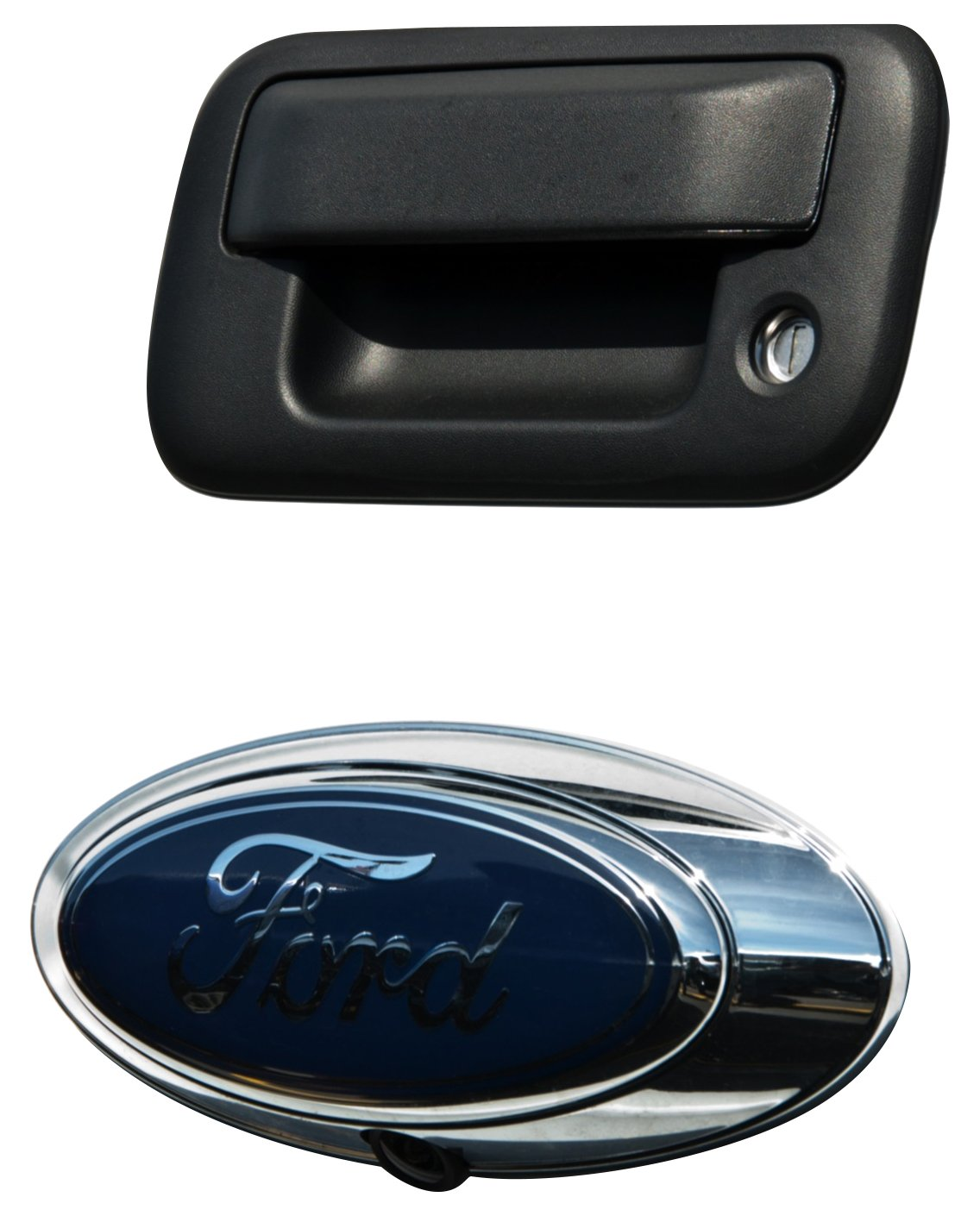 Brandmotion 1008-6509 Ford Oval Emblem OEM Camera with Chassis Harness for Ford Trucks /& Flex