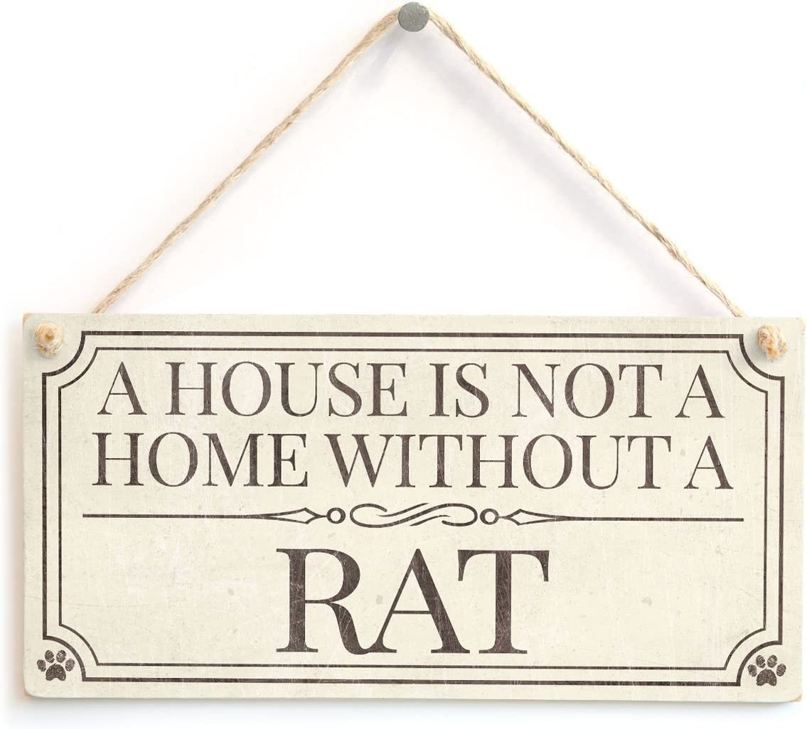 Meijiafei A House is Not A Home Without A Rat - Home Accessory Gift Sign/Plaque for Rat Lovers 10