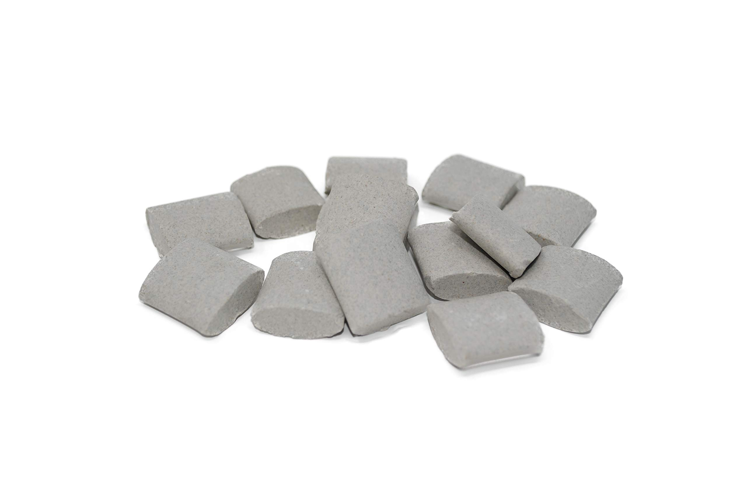 Walther Trowal BA 20X20X8, Ellipse Shape, Ceramic Tumbling Rocks, 55 lb Bag, Medium Cut