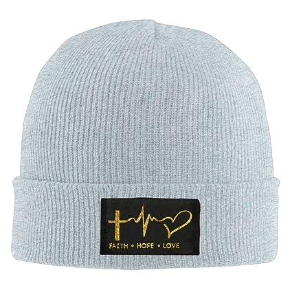 d747ad79615 Faith Hope Love Christian Faith Bible Unisex Warm Winter Hat Knit Beanie  Skull Cap Cuff Beanie