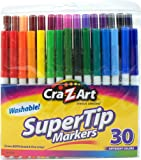 Cra-Z-art Washable Super Tip Markers, 30 Count (10013)