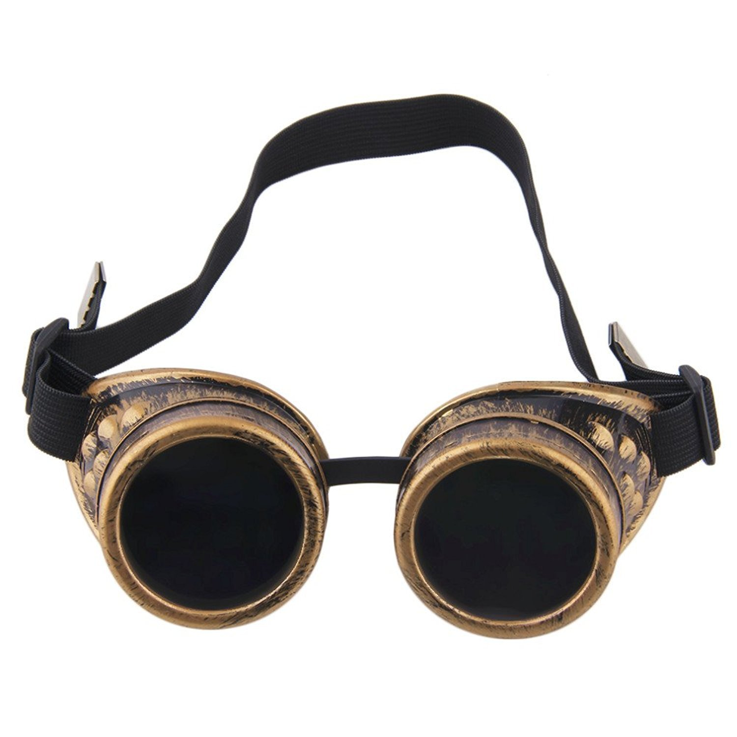 TRIXES Adjustable Steampunk Goggles Party Accessory Fancy Dress Metallic Brass ZF87
