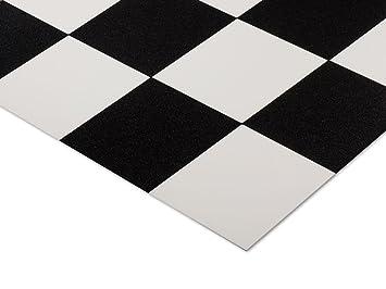 Affordable tapis duentre casa pura sol en vinyle style for Carrelage damier noir et blanc