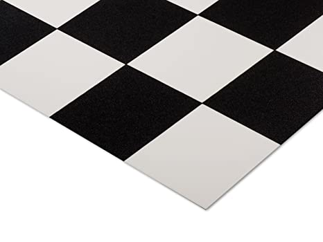 Casa pura pavimento vinilico damier stile mattonelle in bianco e