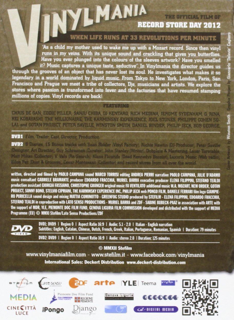 Vinylmania 2dvd: Paolo Campana: Amazon.es: Música