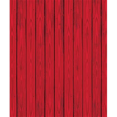 Red Barn Siding Backdrop Party Accessory (1 count) (1/Pkg): Toys & Games