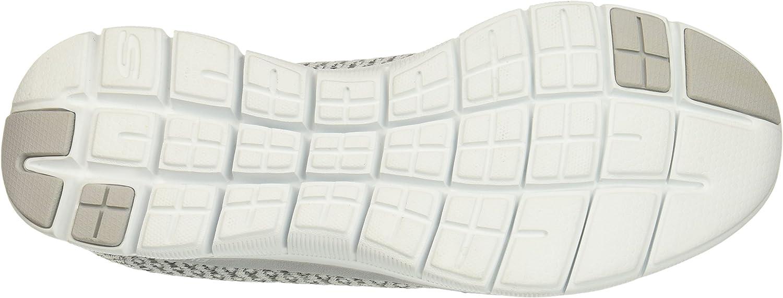 Skechers Women's Flex Appeal 2.0 Bold Move Fashion Sneaker White/Grey