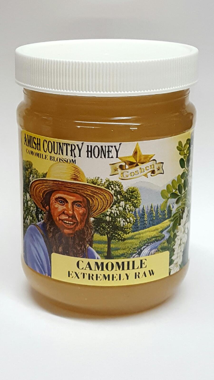 Amish CHAMOMILE Extremely Raw Honey 1Lb