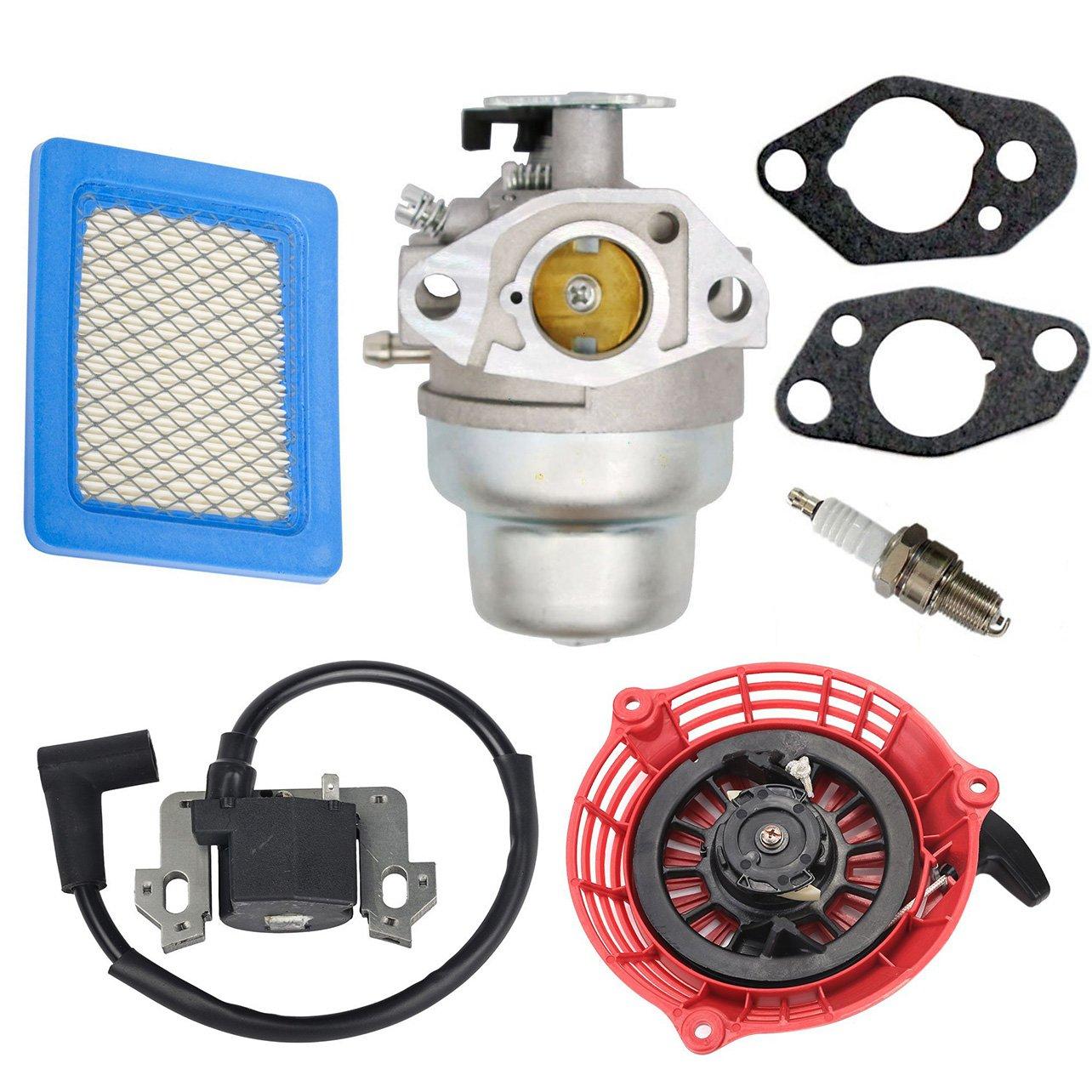 Oxoxo 16100-z0l-023Carburateur Carb kit avec filtre à air Bobine d'allumage Recoil Pull Starter pour Honda GCV160Hrb216pour tondeuse à gazon