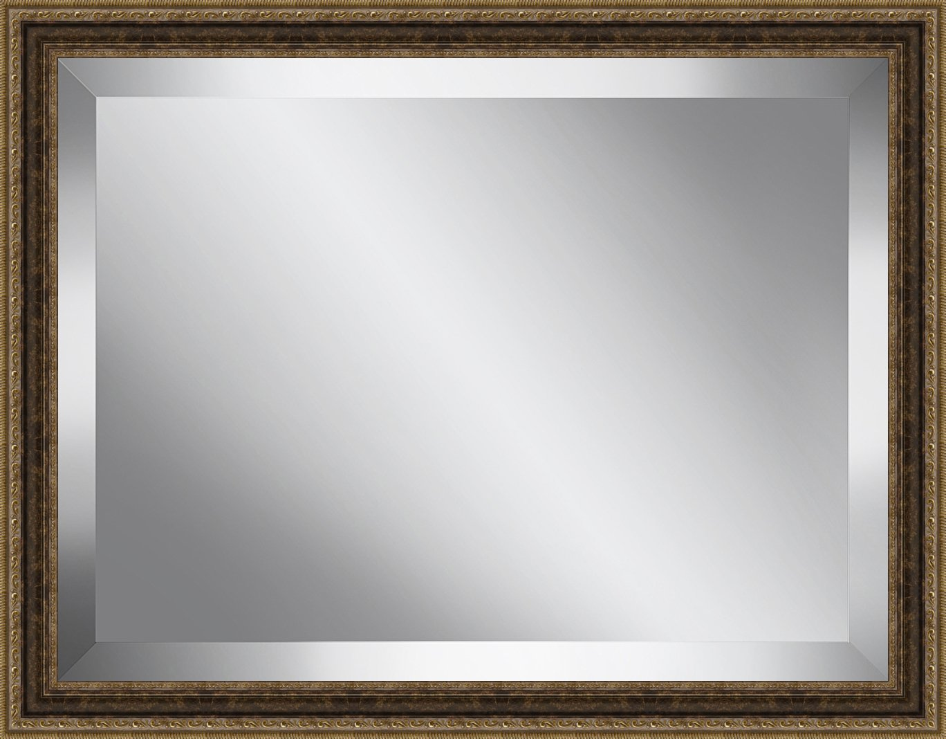 Ashton Art & Décor Traditional Antique Gold Framed Beveled Plate Glass Mirror, 24 by 28-Inch