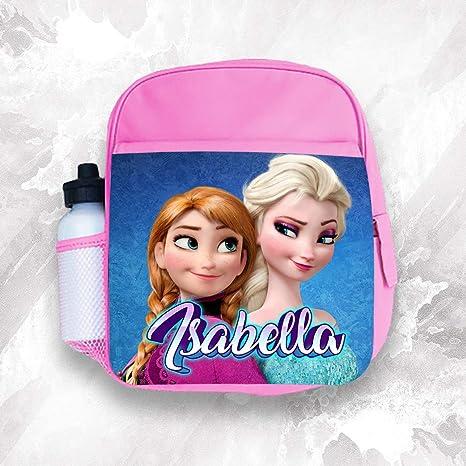 Mochila infantil personalizada con cualquier nombre Frozen para niñas y niños