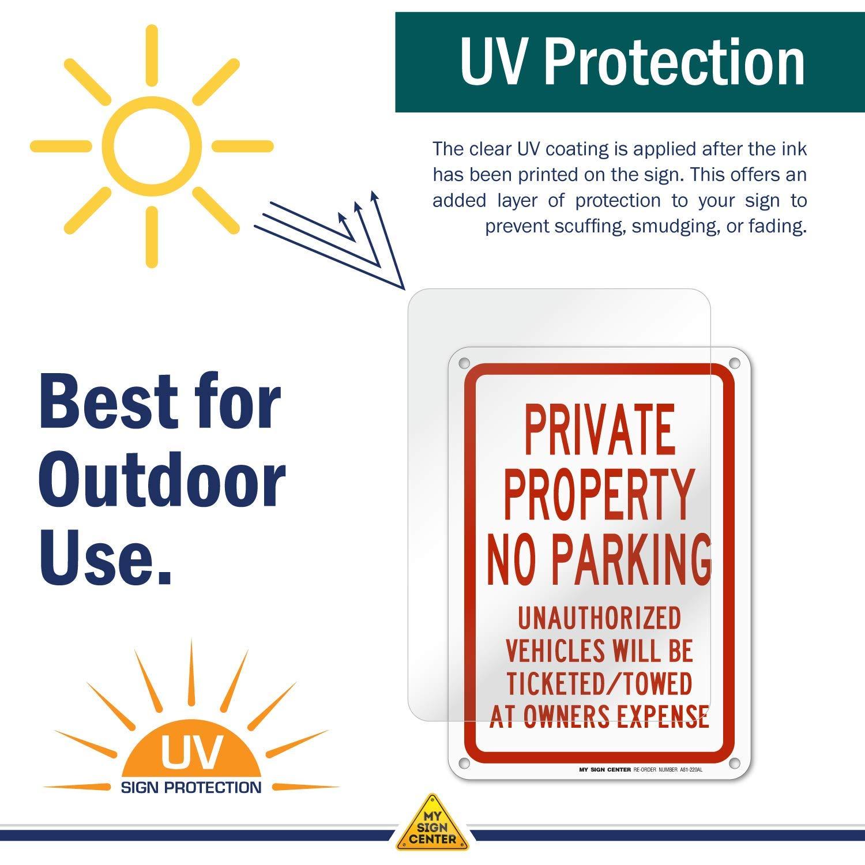 Amazon.com: Propiedad Privada prohibido aparcar chapa 10