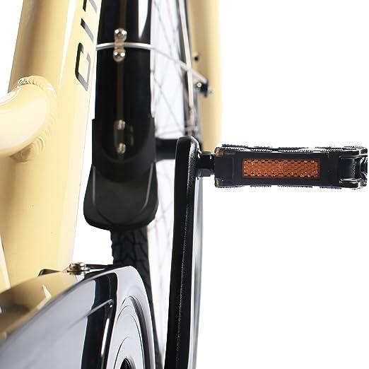 E-Bike eléctrico bicicleta holandesa B14 AsVIVA con 36 V 13 Ah Samsung batería en beige, 28 bicicleta eléctrica con 7 marchas Shimano, ...