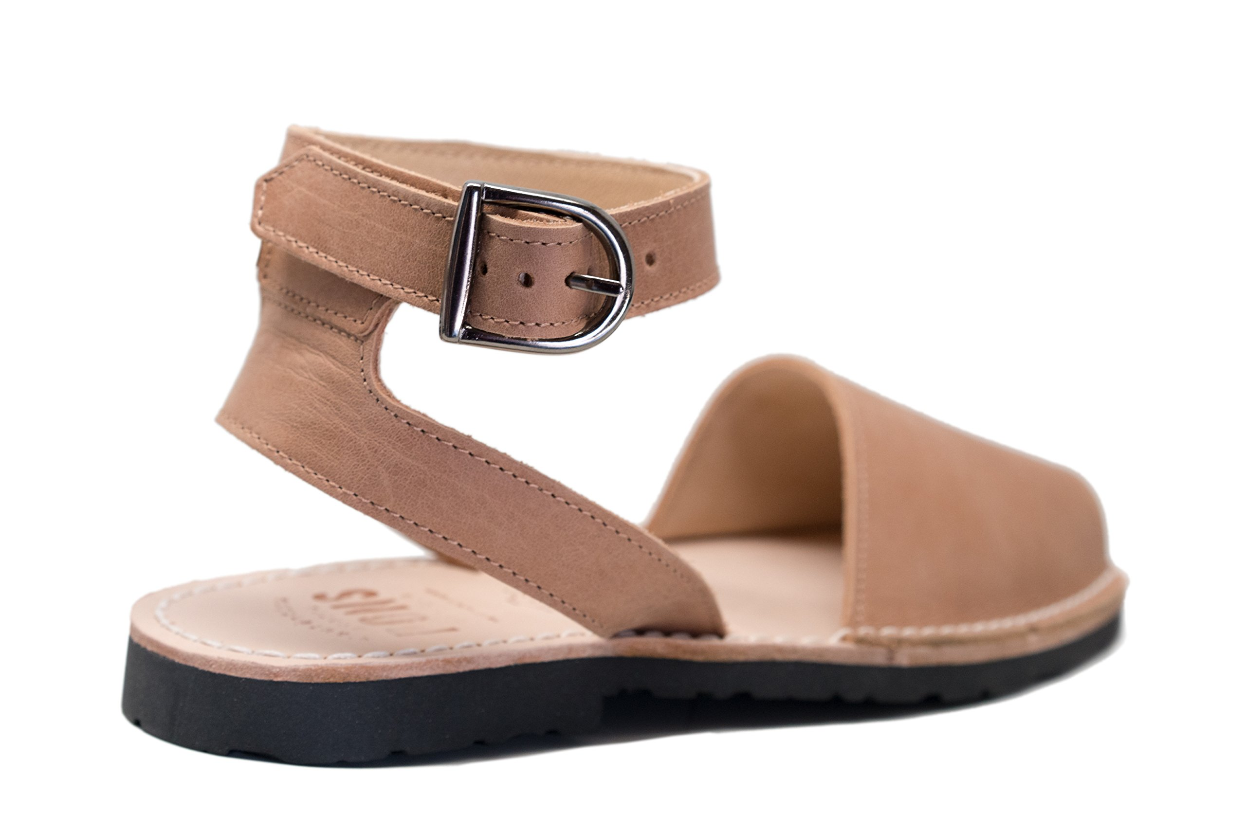 Pons 521 - Avarca Classic Style Strap - Tan - 39 (US 9)