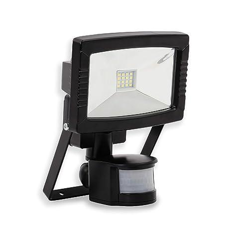 Foco led para exterior I 8,5 W con detector de movimiento I negro I
