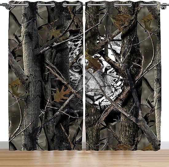 SXCHEN Blackout Curtains 2 Panels Grommet Curtains