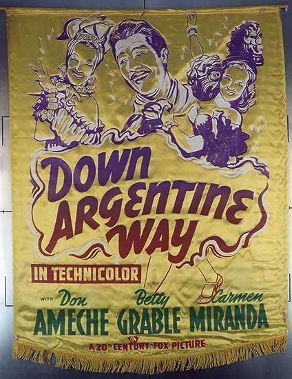 Movie Poster Down Argentine Way 1940