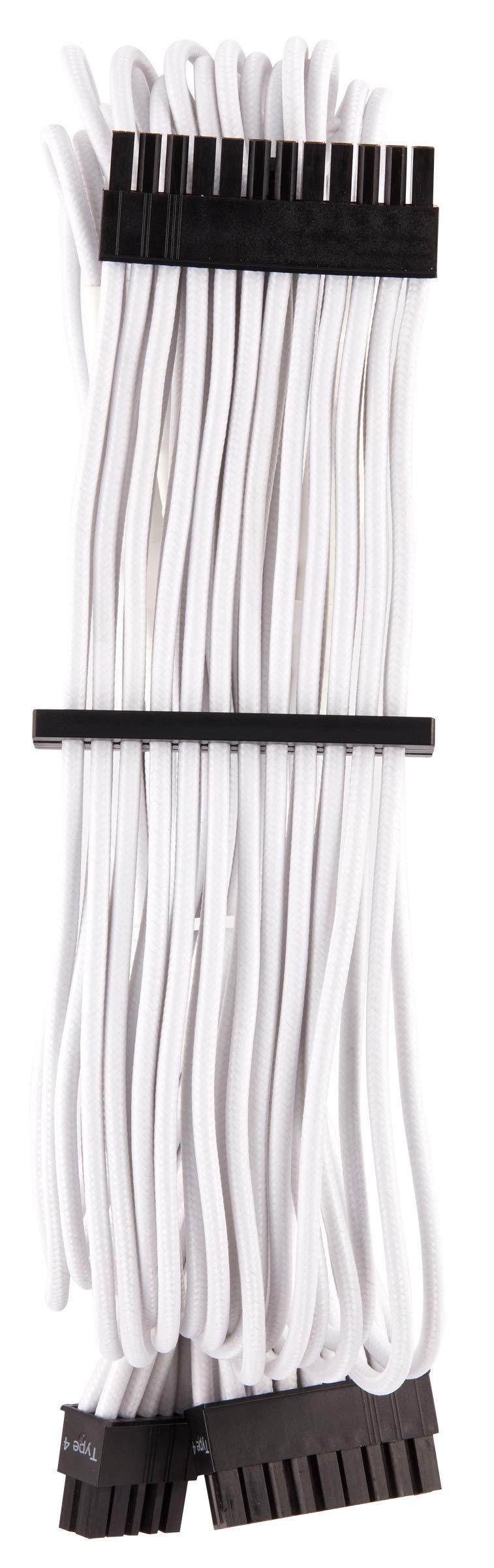 CORSAIR Premium Individually Sleeved PSU Cables Starter Kit - Black, 2 Yr Warranty, for Corsair PSUs by Corsair (Image #3)