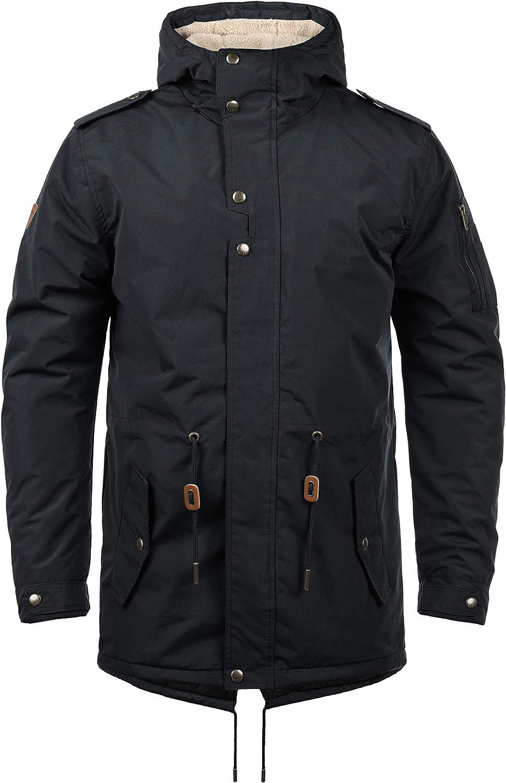 BLEND Ebong Manteau DHiver Avec Peau De Mouton Parka DHiver Veste Longue Pour Homme /À Capuche Doublure De/Peluche