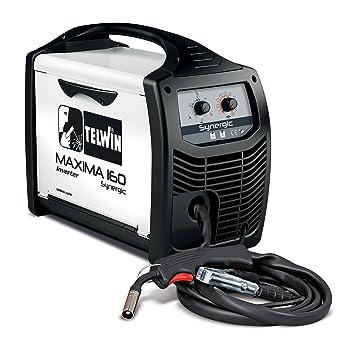 Telwin SPA 816085 Maxima 160 synergic Inverter schw Hielo sgerät para el de Mig Mag/Flux/brazing schweissen, 230 V), color blanco