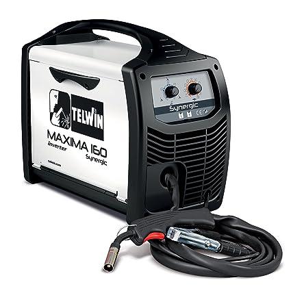 Telwin S.P.A. 816085 Maxima 160 synergic Inverter schw Hielo sgerät para el de Mig Mag/Flux/brazing schweissen, 230 V), color blanco: Amazon.es: Industria, ...