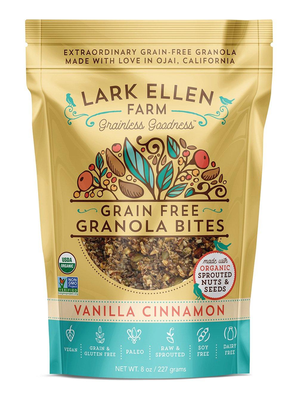 Lark Ellen Farm Grain Free Granola Bites, Vanilla Cinnamon, 8 oz