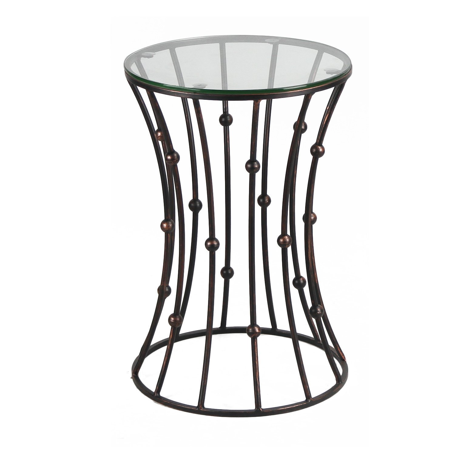 Drum Shaped Coffee Table.Decenthome Accent Metal Wire End Side Coffee Table Black Drum Shape