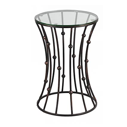 Charmant Amazon.com: DecentHome Accent Metal Wire End Side Coffee Table, Black (Drum  Shape): Kitchen U0026 Dining