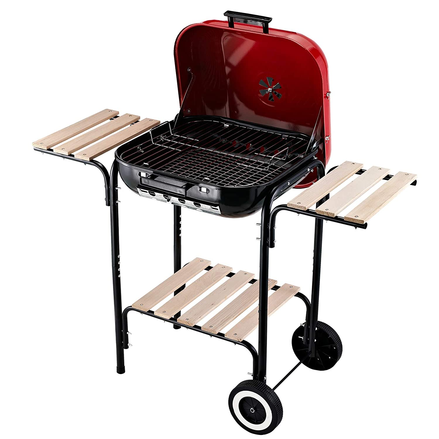 Amazon.com: Outsunny Charcoal BBQ Trolley Barbecue Grill ...