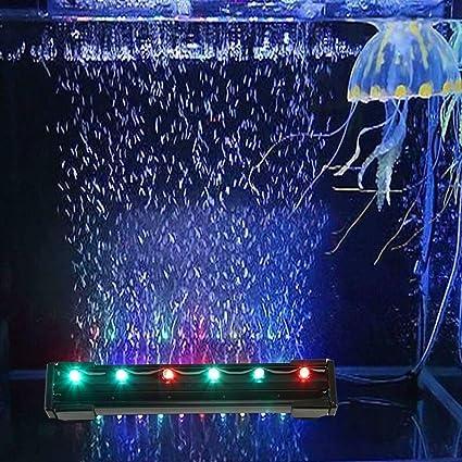 Amazon Com Decoroom Led Aquarium Fish Tank Light Air Bubble Lights