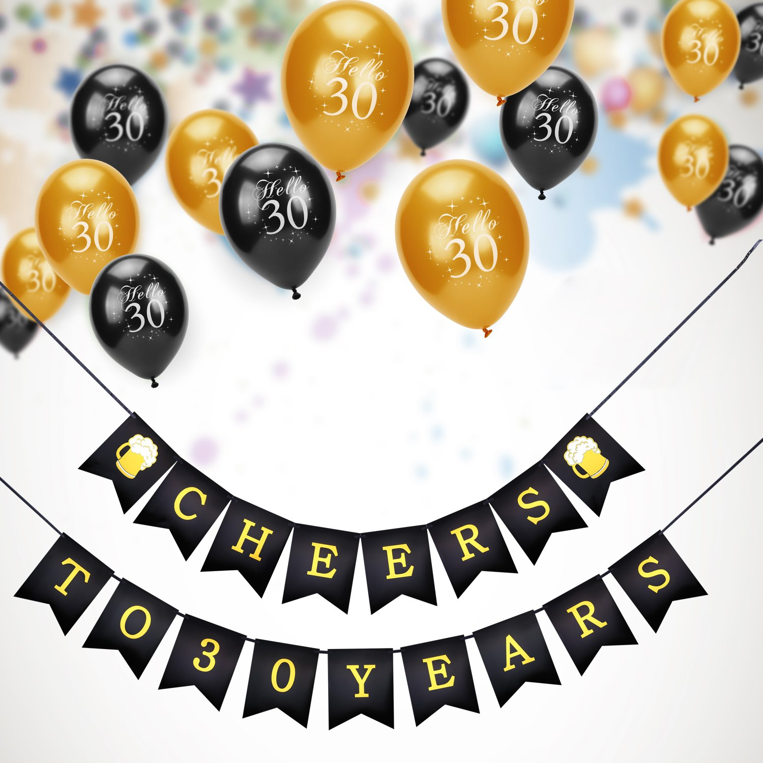 60th Birthday Party Decorations Kit Konsait Cheers To Banner For Her Him