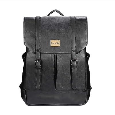 Zebella Women Vintage Leather Backpack College Bookbag Laptop Bag Faux Leather Backpack Purse Weekend Travel Daypack