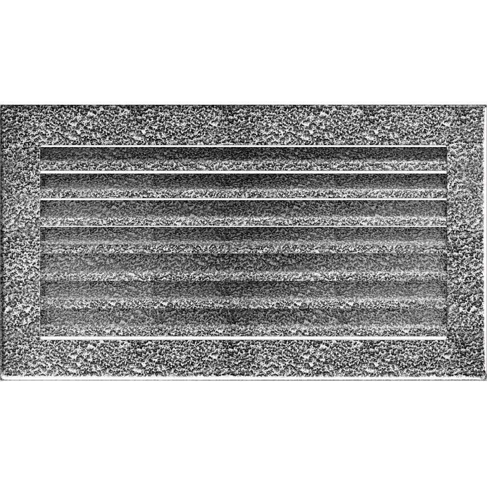 Kratki L/üftungsgitter Kamingitter FRESH 17cm x 37cm graphit