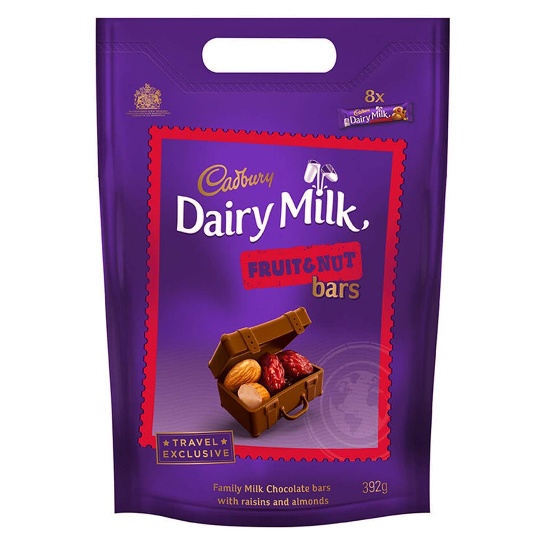 DAIRY MILK, Bars Pouch g, Fruit & nut, 392 Gram