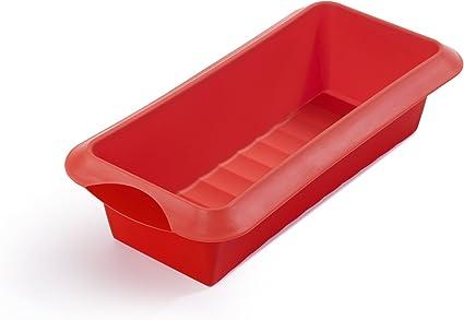 Oferta amazon: Lékué - Molde de silicona Rectangular, Rojo, 24cm