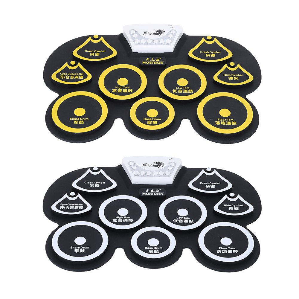 Amazon.com: Andoer Silicone Portable Foldable Digital USB Midi Roll-up Electronic Drum Pad Kit with Stick and Foot Pedal: Musical Instruments