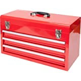 Big Red ANTBD133-XB Torin 20' Portable 3 Drawer Steel Tool Box with Metal Latch Closure, Red