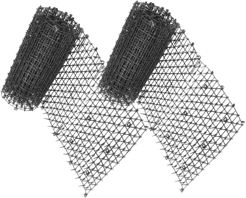 YARNOW Katzenabweisende Outdoor-Scat-Matte Katzenabwehrvorrichtungen Spikes-Matte 13 12 Fu/ß Lange Ungiftige Humane Und Wirksame Abwehrmittel