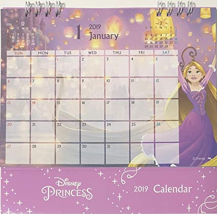 disney princess desk ring japanese calendar 2019 year 12 month