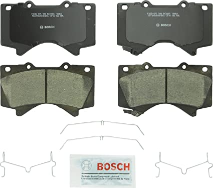 Bosch BC1303 QuietCast Premium Ceramic Disc Brake Pad Set For Lexus:  2008-2017 LX570