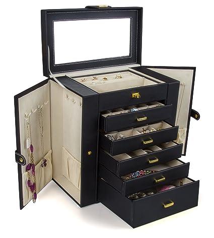 Amazon.com: Gran caja o almacenamiento para joyas Kendal LJC ...