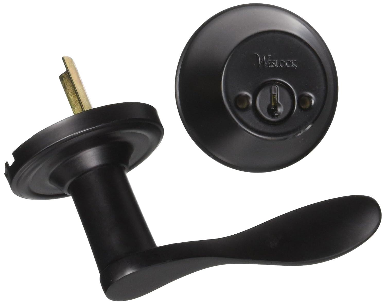 Weslock R2109--U2SL2D Lexington//Oval Interior Entry Handle Black