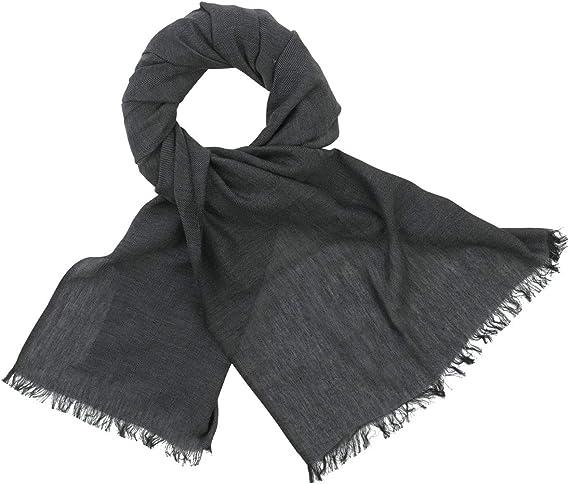Herrenschal LINDENMANN Herren Schal schwarz-weiss 100/% Baumwolle