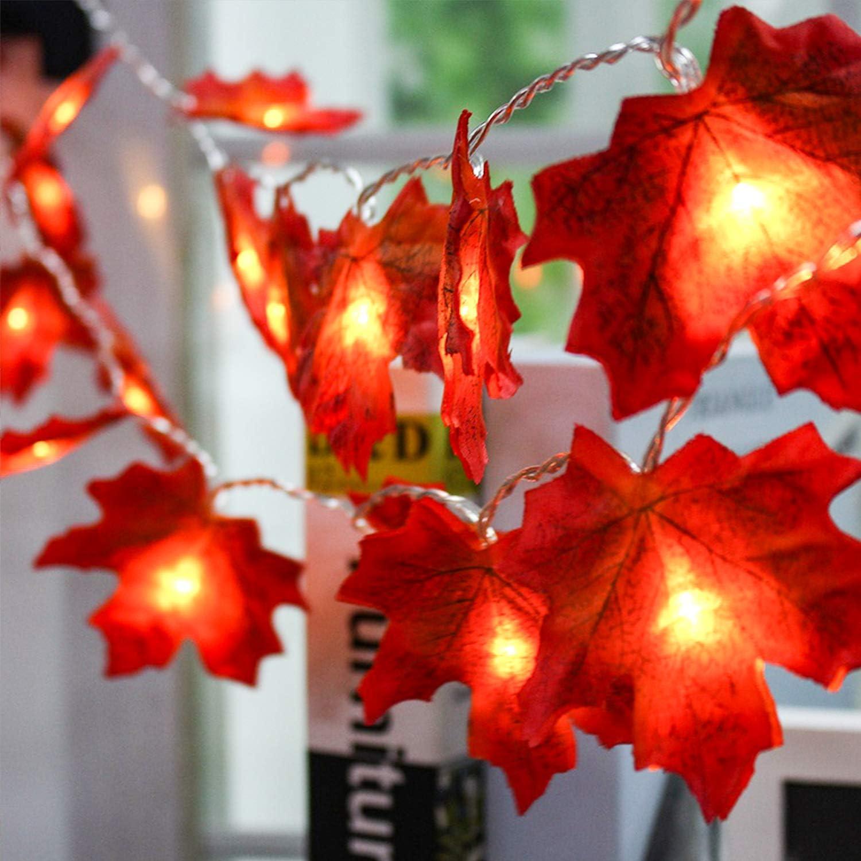 Battery powered Christmas lights (maple leaf string light)