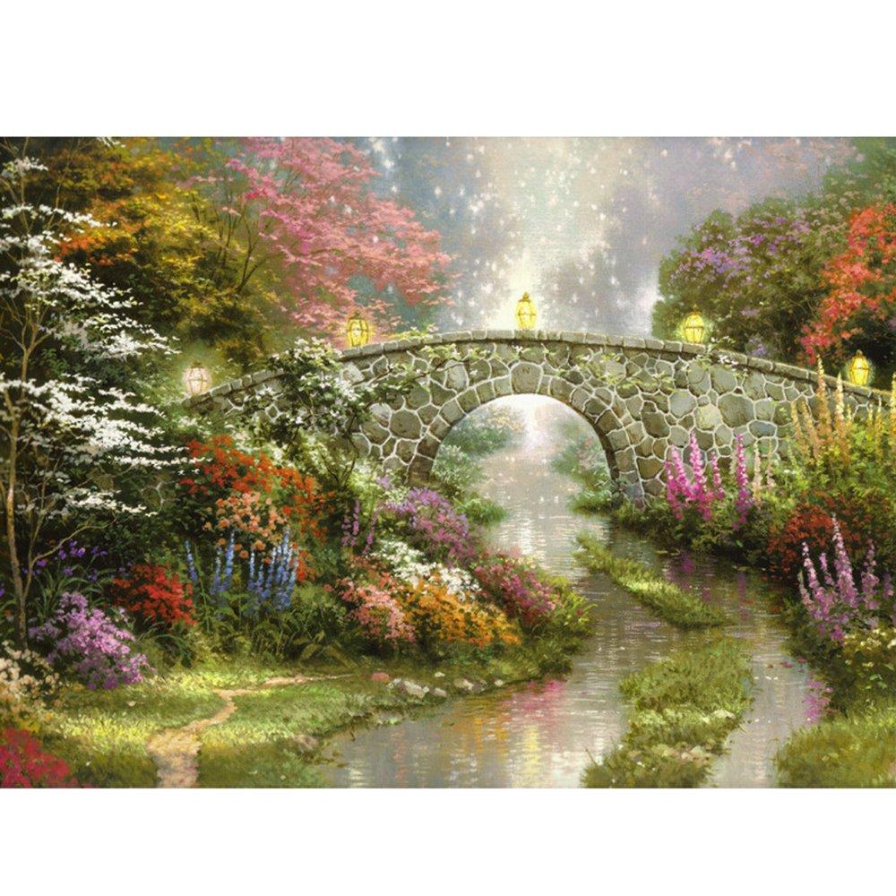 木質拼圖1000片 拼圖 《斯蒂爾沃特橋》 高檔拼圖 油畫 裝飾畫 風景畫