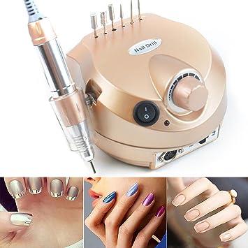 littledi 220 V 35000rpm profesional eléctrica uñas taladro máquina manicura pedicura Kit Uñas Salón con pedal