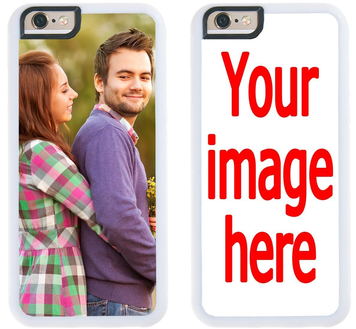 on sale a2d23 f4328 Custom iPhone Cases iPhone 7 Plus, iPhone 8 Plus iZERCASE [Personalized  Custom Picture CASE] Make Your Own Phone Case (White)